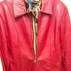 Jackets & Blazers - Red leather jacket